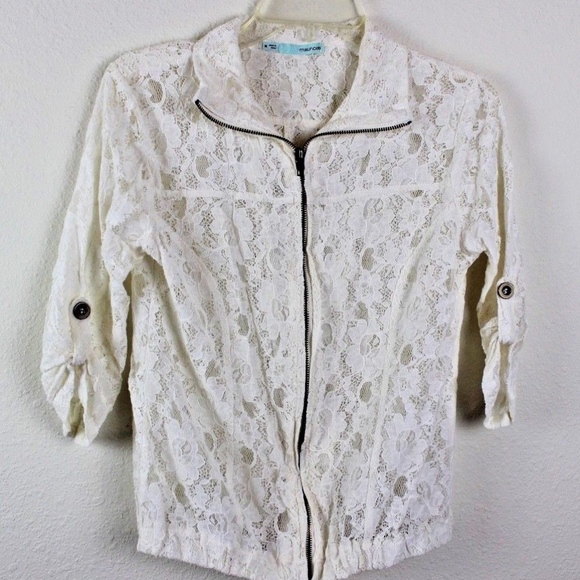 Maurices Jackets & Blazers - 💘 Maurices Women's Lace Zip-Up Moto Boho Jacket
